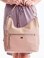 Różowa torba z łączonych materiałów                                  zdj.                                  2