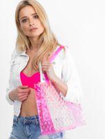 Różowa transparentna torba w grochy                                  zdj.                                  5