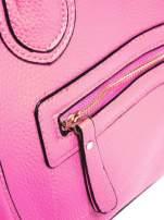 Różowa trapezowa torba miejska                                   zdj.                                  6