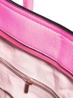 Różowa trapezowa torba miejska                                   zdj.                                  8