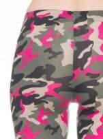 Różowe legginsy we wzór moro                                  zdj.                                  6