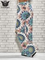 Różowe spodnie dzwony w etniczne wzory                                                                          zdj.                                                                         4