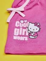 Różowe szorty dla dziewczynki nadruk HELLO KITTY