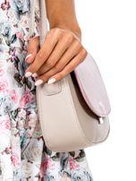 Różowo-beżowa torebka listonoszka ze skóry ekologicznej                                  zdj.                                  3