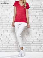 Różowy damski t-shirt sportowy PLUS SIZE                                  zdj.                                  2