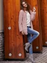 Grafitowy futrzany sweter kurtka na suwak                                                                          zdj.                                                                         12