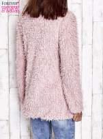 Grafitowy futrzany sweter kurtka na suwak                                                                          zdj.                                                                         6