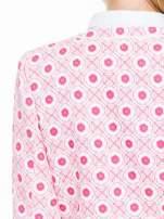 Różowy kwiatowy żakiet chanelka zapinany na haczyk                                  zdj.                                  7