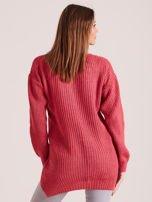 Różowy sweter z perełkami                                  zdj.                                  2