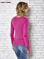 Różowy sweter zapinany na guziczki Funk n Soul