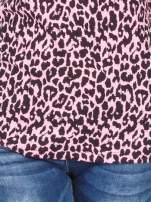 Różowy t-shirt w panterkę                                  zdj.                                  5