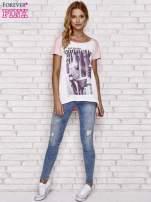 Różowy t-shirt z napisem MA PETITE COQUETTE                                                                           zdj.                                                                         2