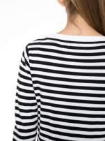 Rozpinany sweter w biało-czarne paski z kieszonkami po bokach                                  zdj.                                  6