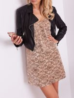 SCANDEZZA Beżowa sukienka mini                                   zdj.                                  1