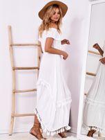 Biała sukienka maxi z asymetrycznym tyłem                                  zdj.                                  3