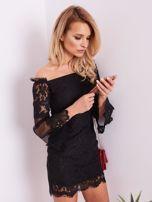 Czarna koronkowa sukienka                                  zdj.                                  8
