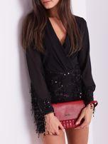 SCANDEZZA Czarna sukienka z cekinami                                  zdj.                                  5