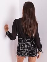 Czarna sukienka ze srebrnymi cekinami                                  zdj.                                  10