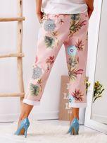 Różowe spodnie w kwiaty                                  zdj.                                  2