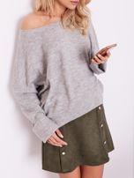 Szary dzianinowy sweter                                  zdj.                                  8