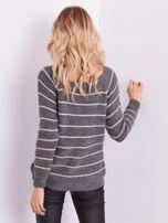 Szary sweter z błyszczącą nitką                                  zdj.                                  6