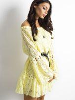 Żółta sukienka z hiszpańskim dekoltem                                  zdj.                                  8