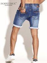 SCOTFREE Niebieskie jeansowe szorty męskie                                  zdj.                                  2
