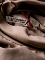 STRADIVARIUS Beżowa bluzka basic z golfem                                                                          zdj.                                                                         3