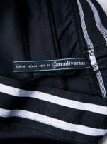 STRADIVARIUS Czarne legginsy ze sportowym pasem                                  zdj.                                  3