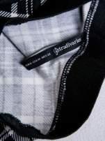 STRADIVARIUS Czarno-biała mini spódnica skater w kratę