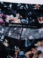 STRADIVARIUS Kwiatowe spodnie z lejącej tkaniny                                                                          zdj.                                                                         3