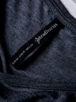 STRADIVARIUS Szara bluzka basic typu cropped