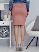 Spódnica różowa z imitacji zamszu ze sznurowaniem                                   zdj.                                  2