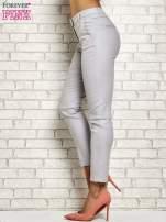 Srebrne brokatowe spodnie                                  zdj.                                  2