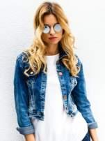 Srebrne okulary przeciwsłoneczne LENONKI lustrzanka                                  zdj.                                  1