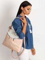 Srebrno-różowa torba z ekoskóry                                  zdj.                                  4