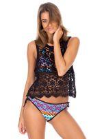 Strój kąpielowy wiązane bikini w kolorowe geometryczne wzory                                  zdj.                                  6