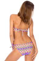 Strój kąpielowy wiązane bikini w kolorowe motywy geometryczne                                  zdj.                                  3
