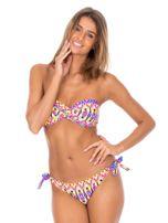 Strój kąpielowy wiązane bikini w kolorowe motywy geometryczne                                  zdj.                                  5