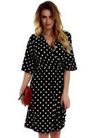 Sukienka czarna w grochy                                  zdj.                                  1