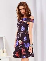 Sukienka czarna w tulipany                                  zdj.                                  6