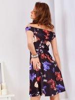 Sukienka czarna w tulipany                                  zdj.                                  7
