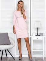 Sukienka damska różowa z diamentem                                  zdj.                                  4