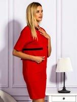 Sukienka damska z kieszeniami czerwona                                  zdj.                                  5