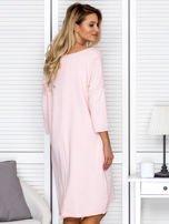 Sukienka damska z napisem z dżetów różowa                                  zdj.                                  2