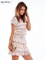 Sukienka jasnoróżowa z falbanami BY O LA LA                                   zdj.                                  5