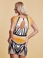 Sukienka z nadrukiem i wycięciem na plecach pomarańczowa                                  zdj.                                  2