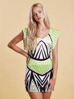 Sukienka z nadrukiem i wycięciem na plecach zielona                                  zdj.                                  1