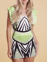 Sukienka z nadrukiem i wycięciem na plecach zielona                                  zdj.                                  5