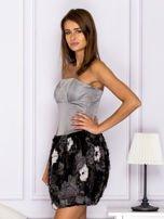 Sukienka z ozdobą spódnicą szara                                  zdj.                                  5